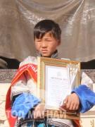 """Нийслэлийн Чингэлтэй дүүргийн 17 дугаар сургуулийн 6-р ангийн сурагч """"Дорнын унага"""" гал уяаны уралдаанч 14 настай Цэрэндондовын Отгонбаатар"""